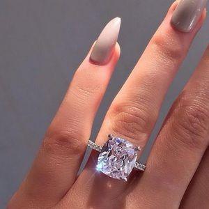 💍NEW 8 CARAT CUSHION CUT SOLITAIRE DIAMOND RING💍